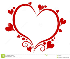 San Valentin Decoration Decorative Red Valentines Day Heart Outline Royalty Free Stock