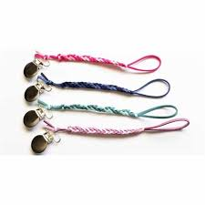 loved by sophia claire ombre braided leather pacifier clip collection jane