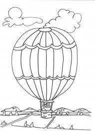 Luchtballon Kleurplaten