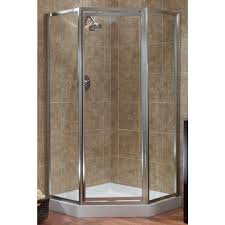 this review is from tides 18 1 2 in x 24 in x 18 1 2 in x 70 in framed neo angle shower door in silver and obscure glass