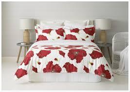 turkish poppies duvet cover set king