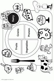 Food Coloring Pictures Book Healthy Pagesuit For Kidsee Printable Stephenbenedictdyson