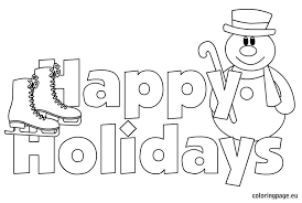 Small Picture Happy Holidays images Coloring Page