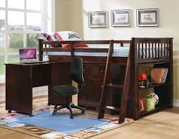 PALOMA ESPRESSO TWIN LOFT BED WITH PULL OUT DESK
