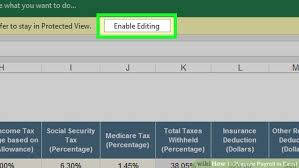 Payroll Free Software Download Excel How To Prepare Payroll In Excel With Pictures Wikihow