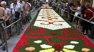 sitges streets festival flower carpets