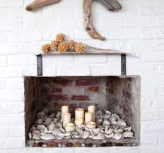 30 ways to display a seashell collection, design d cor, Non functional  fireplace is