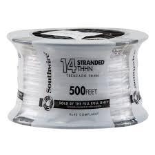 14 white stranded cu thhn wire