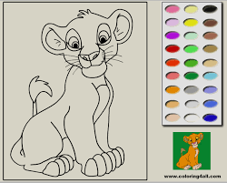 Small Picture Coloring Pages Lion King Online clarknews