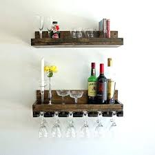 wall mounted bar shelves beveled wine glass rack shelf hanging stemware glass holder wall mounted wine