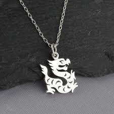 details about year of the dragon necklace 925 sterling silver chinese zodiac pendant new