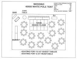 Wedding Floor Plan Templates Just For A Seating Plan Layout Visual Wedding 40x60 White Pole Tent