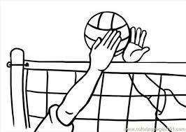 Small Picture Volleyball Coloring Pages Bebo Pandco
