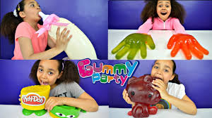 Kids vs Food DIY Giant Gummy Candy Hulk Bad Baby Bottle.