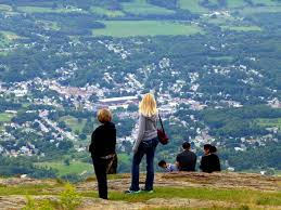 visitors to the eastern summit of mount greylock can view the town of adams in the