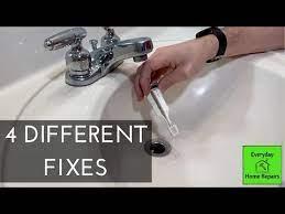 bathroom sink drain stopper not working