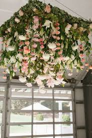 fl chandelier with flowers hanging vertically down