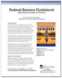 Resume For Federal Jobs Gorgeous The Federal Resume Guidebook Guides You To Craft The Perfect Federal