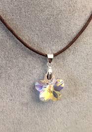 swarovski crystal flower pendant with