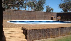 Limited Rectangle Above Ground Pool With Deck Pools Melbourne R Us