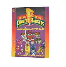 Small Picture Vintage Mighty Morphin Power Rangers coloring and activity book