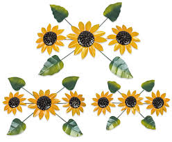 on sunflower wall art metal with painted metal sunflower wall art sculptures