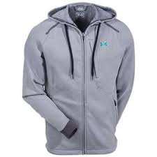 under armour zip up hoodie. under armour jackets: men\u0027s grey 1235483-078 ua poseidon storm hoody zip up hoodie