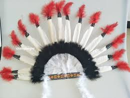 beatiful 16 inches tall indian headdress indian feathers hood hoos handmade made 15 feather decoration diy jpg 640x640