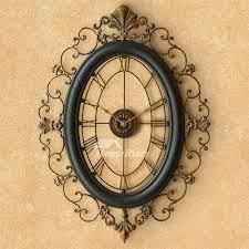 long wall clocks oval wrought iron 18