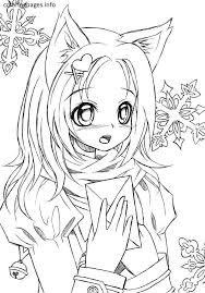 Cat Anime People Coloring Pages Girl Ideas Best Of Catgirl