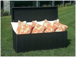beautiful patio cushion storage or storage bench with cushions and storage bins patio cushion storage bench