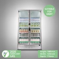 glass door display refrigerator 1 2m