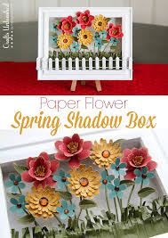 diy spring decoration paper flower shadow box