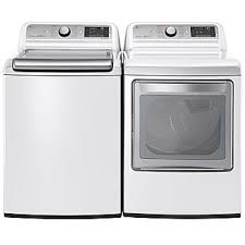 lg washer and dryer. lg wt7600hwa 5.2 cu. ft. mega capacity top load washer w/steam lg and dryer f