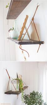 diy hanging shelves by going home to roost 2