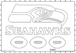 Coloring Pages Page Seattle Seahawks Football With Fresh Design Sea