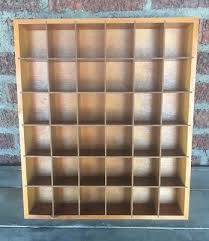 36 shot glass display case wood rack wall shelves shadow box holder cabinet