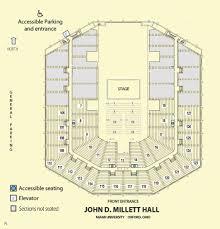 Millett Hall Seating Chart Performing Arts Series Cca