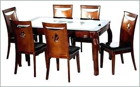 6 chair dining table dining table set with 6 chairs chair size extending black gl and