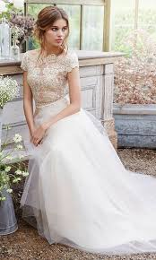 30 beautiful wedding dresses with cap sleeves weddingomania