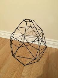 ikea brunsta black geometric pendant lamp light shade