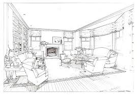 interior design sketches living room. Before And After: Vicente Wolf\u0027s Living Room Design Interior Sketches C