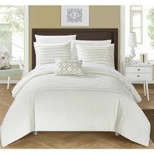 chic home 4 piece kingston beige duvet cover set