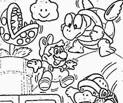Mario Brothers Coloring Great Images To Color Colouring Pages Super