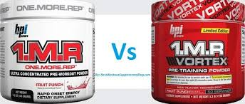 difference between 1mr and 1mr vortex 1mr pre workout parison