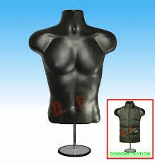 T Shirt Stand Display Male Mannequin Hanger Torso Form Stand Display Apparel Men Tshirt 40