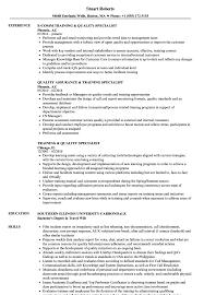 Qa Specialist Sample Resume Training Quality Specialist Resume Samples Velvet Jobs 10