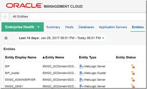 Omc My Chart Connecting Oracle Management Cloud With Oracle Enterprise