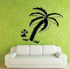 large coconut tree wall decal