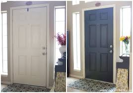 inside front door colors. Painted Door Before And After Inside Front Colors L